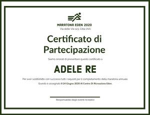 Adele Re Certificato