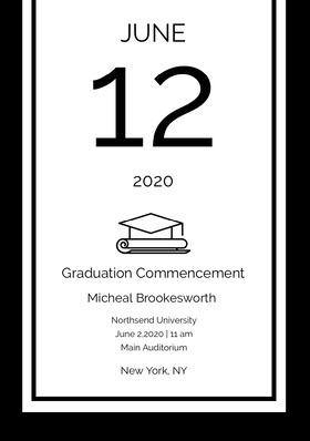12 Graduation Invitation