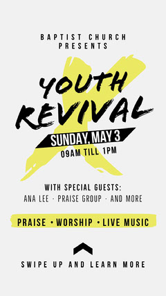 Gospel Event Instagram Story Event Ticket