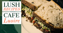 Green With Fresh Sandwich Recipes Banner Facebook-Titelbild
