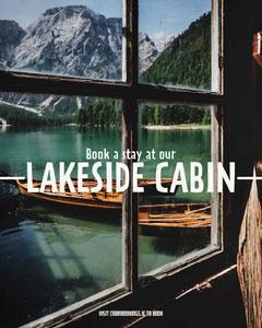 Lakeside Cabin Instagram Portrait Mountains