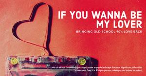 Red, Symbolic Nineties Vlentine Day Facebook Banner Music Banner
