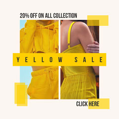 Yellow Sale Instagram Square Yellow