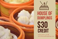 Fresh Dumplings Gift Certificate  Gift Card