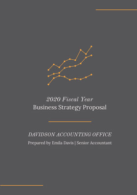 Orange and Grey Business Strategy Proposal Forslag