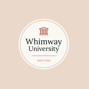 White and Pink University Badge Emblema