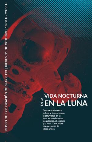 museum nightlife event poster  Cartel de evento