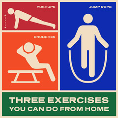 three exercise from home instagram  Workout