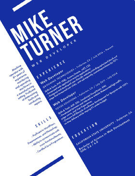 MIKE TURNER Creative Resume