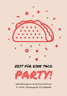 Zeit für eine Taco <BR>Party! Einladung