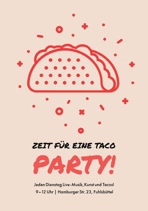 Zeit für eine Taco <BR>Party! Einladung zur Party