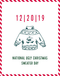 ugly holiday sweater day igportrait  Christmas