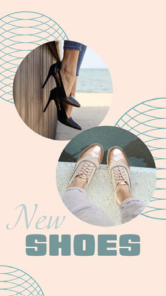 Cream Shoes Instagram Story  New Collection