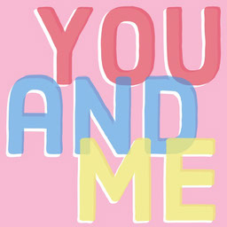 Colorful Typography, You And Me, Instagram Square