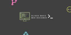 OLIVER DAVIS<BR>WEB DESIGNER Grey