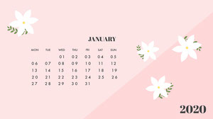 January 2020 Calendar Wallpaper Kalenterit