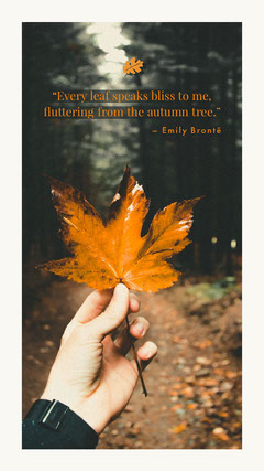 """Every leaf speaks bliss to me, fluttering from the autumn tree."" Autumn"