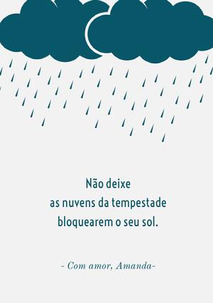 feeling under the weather get well soon cards  Cartão de melhoras