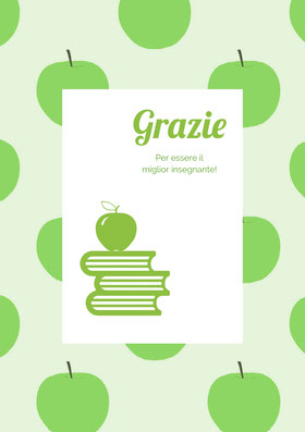 green apple patterned thank you cards  Biglietto di ringraziamento