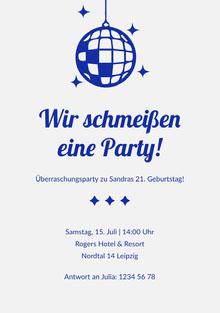 Wir schmeißen eine Party! Einladung