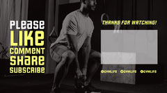 black white yellow gym YouTube outro thanks for watching YouTube thumbnail  Gym