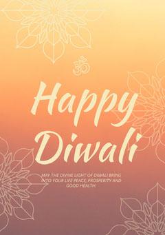 happy Diwali greeting card Celebration