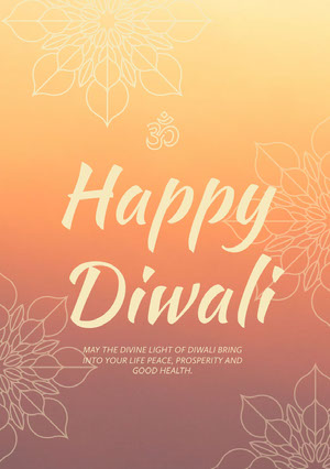 happy Diwali greeting card Diwali