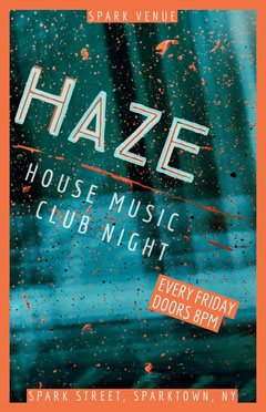 Haze Paint Splatter Club Flyer Night Club Flyer