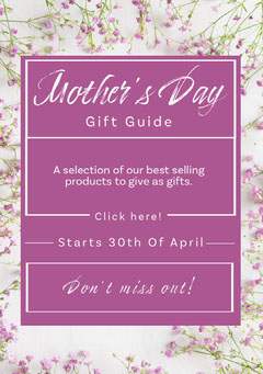 Pink Floral Mother's Day Gift Guide Ad Flyer Gift Card