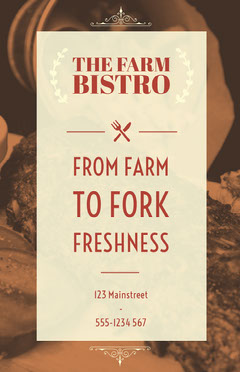 From Farm to Fork freshness Food Flyer