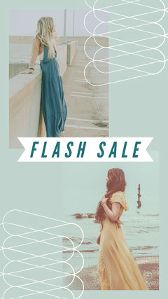 Blue With Women Photos Flash Sale Social Post Instagram Post