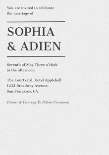 SOPHIA & ADIEN Wedding Cards
