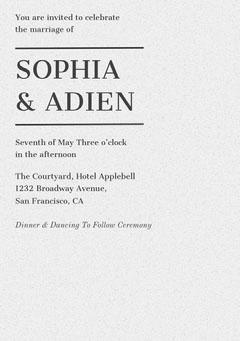 SOPHIA & ADIEN Weddings
