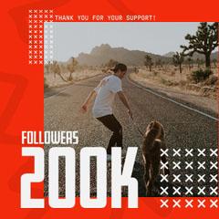 200K Joey Skates Milestone IG Square Thank You Poster