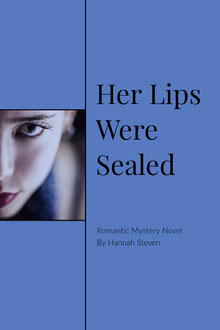 Blue and Black Her Lips Were Sealed Book Cover Couverture de livre