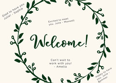 floral group welcome card Welcome Poster