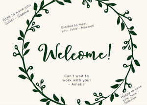 floral group welcome card Group Welcome Card