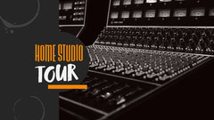 Black & Orange Recording Studio Youtube Thumbnail Music Tour