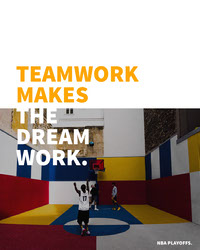 White and Colorful Teamwork Sport Quote Instagram Portrait Basketball