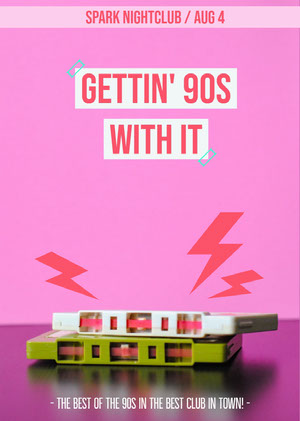 Gettin' 90s with it Concertposter