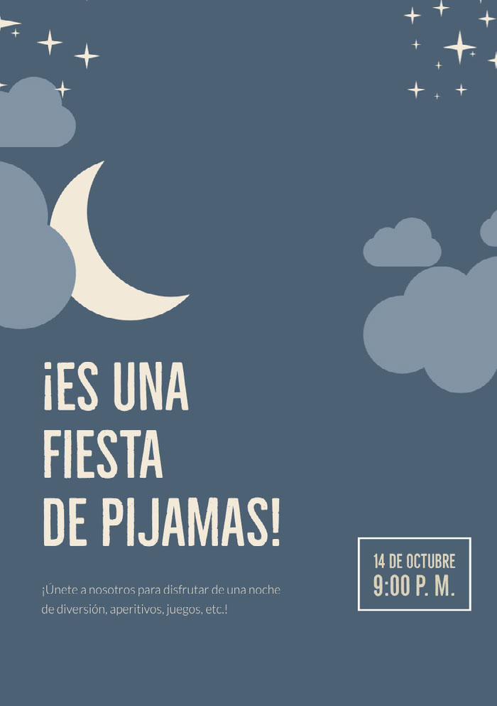 ¡Es una fiesta de pijamas! Nachrichten zur guten Nacht
