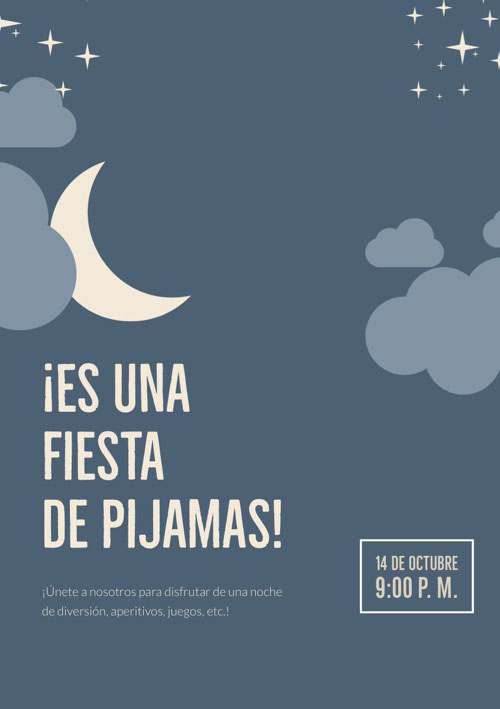 ¡Es una fiesta de pijamas! Good Night Messages