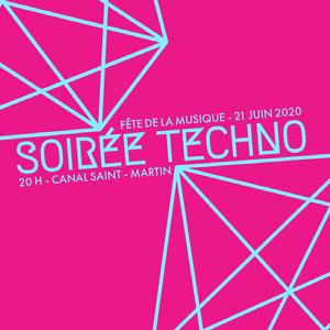 Pink and Blue Techno Night Music Festival Instagram Square Affiches de festival de musique