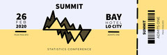 Yellow Graph Business Analyst Statistics Conference Event Ticket Event Ticket