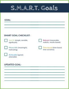 Smart Goal School Lesson Plan Education