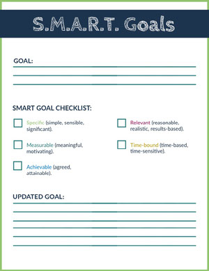 Smart Goal School Lesson Plan Checklist Maker