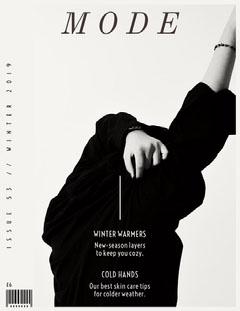 Black and White Magazine Cover Fashion Magazines Cover