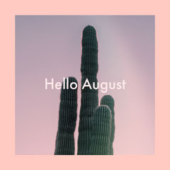 Pink and Violet Instagram Graphic Hello