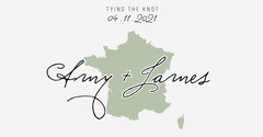 Green and White French Wedding Banner Facebook France