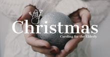 White and Light Toned Christmas Charity Event Facebook Banner Portada de Facebook
